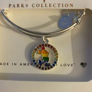 NWT Alex and Ani Mickey 🌈 pride bracelet w/ gems